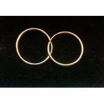 Arracadas En Oro Macizo De 10 K Ligera 1.8 Cm