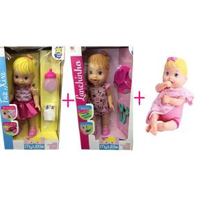 Kit 3 Baby Alive Faz Xixi + Lanchinho + Nenenzinha Divertoys