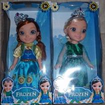 Muñeca Frozen Princesa Sofia Bebe, Elsa, Ana Cantan Juguete