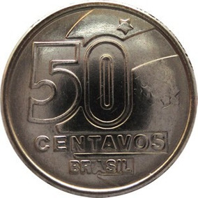 Moeda 50 Centavos Ano 1989 - Aço Inox - Fc.