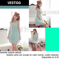 *fashionstore* Karime Mint Dress. Vestido Color Menta