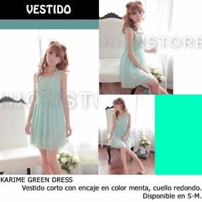 *fashionstore* Karime Mint Dress. Vestido Color Menta