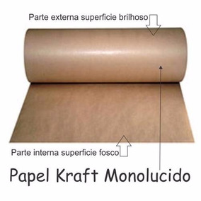 Bobina De Papel Kraft Monolúcido 80g Larg..40 Cm X 180 Mts