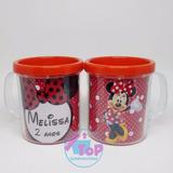 50 Canecas Personalizadas Minnie Vermelha - Acrílico