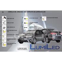 Kit Completo Lampadas Led Corolla Xel 1999-2015