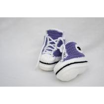 Escarpines Estilo Zapatilla (crochet)