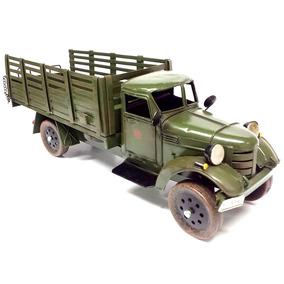 Miniatura Caminhão De Transporte De Armas Exército 1:12