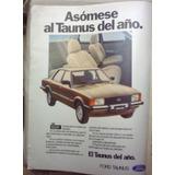 Lamina Ford Taunus Publicidad Años 80 - No Envio