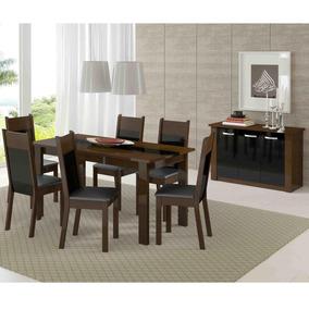 Conjunto Sala De Jantar Mesa 6 Cadeiras E Buffet Veneza