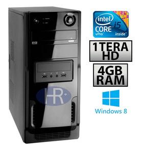 Pc Computador I5+1tera Hd+4g Memória+dvd+1 Ano Garantia