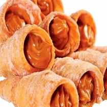 Canudo Leite Frito Recheado Doce De Leite Tipo Caseiro 20 Un