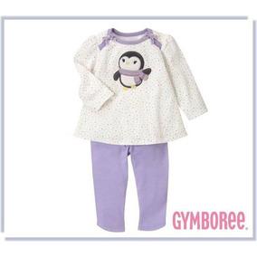 Conjunto Gymboree Pinguim 6 Meses Bebe Menina Importado Bras