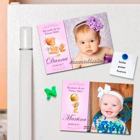 10 Divinos 10 Fotosouvenirs Imantadosfoto Primer Añito Nena