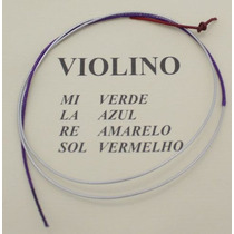 Corda Sol Para Violino Avulsa Mauro Calixto Corda G Vermelho