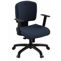 Cadeira Retro Espaldar Baixo Mecanismo Sincron Com Braços