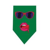 Corbata Labios Lentes Mujer 80s - Retro Pop Art - Verde