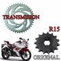 Kit De Transmision Yamaha R15 Original Única Solo Fas Motos