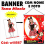 Banner Digital Personalizado Disney Minnie Vermelha Will567