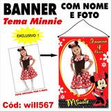 Banner Digital Personalizado Disney Minnie Vermelha Will567