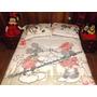 Kit Edredom Cama Queen Casal Minnie & Mickey Disney Original