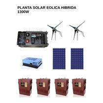 Planta Solar Eolica Hibrida 1300w Casa De Campo - Calidad
