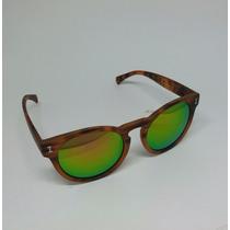 Óculos De Sol Feminino Redondo Oval Espelhado Oc13