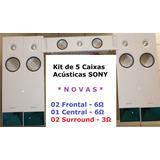 Kit De 5 Caixas Acústicas Sony Brancas Mod: 7100