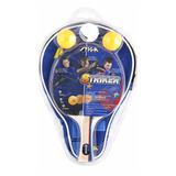 Set Raqueta Ping Pong Stiga Striker 3 Pelotas + Estuche