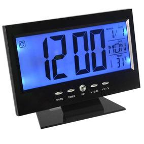 Reloj Termometro, Calendario Despertador Y Numeros Grandes