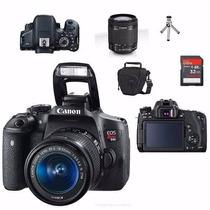 Câmera Canon T6i 18-55mm 32gb Class 10 + Bolsa + Mini Tripé