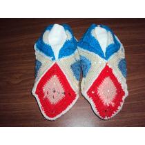 Pantuflas Tejidas Al Crochet 35/37