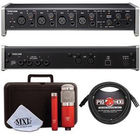 Interface De Audio Tascam 4x4 Usb + Microfonos Mxl + Cables