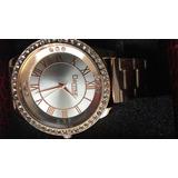 Reloj Grande Metal Esfera C/strass Dorado Dice Dermur