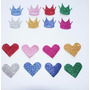 Corona Goma Eva Corazón Glitter Brillantina Souvenir Cumple