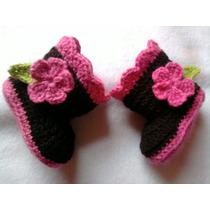 Botitas, Escarpines Tejida A Crochet De 0a 1 Año Para Nene/a