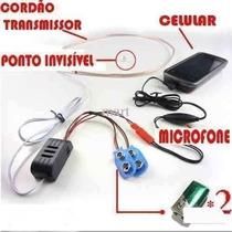 Fone Invisível Escuta Espiã Micro Ponto Eletrônico Auricular