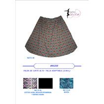 Faldas Estampadas Corte Alto, Femeninas, Moda Casual