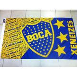Bandera De Boca Juniors Campeon 2017 - Producto Oficial