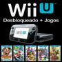 Nintendo Wii U 32gb Desbloqueado + 25 Jogos Wiiu + Sd 64gb