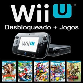 Wii U Desbloqueado + 126 Jogos Wiiu + Hd 1tb + 3 Controles