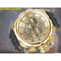 Relógio Invicta Russian Diver Cronografo Plaque Ouro 21628