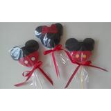 Pirulitos Decorados Mickey Minnie - Com 10 Unidades