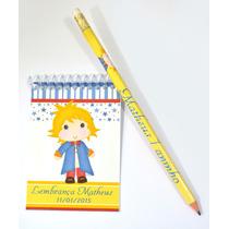 50 Bloquinhos Personalizados 7x10cm + 50 Lápis -lembrancinha