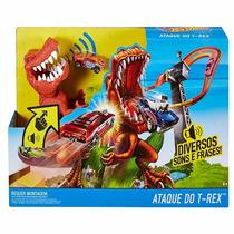 Hot Wheels Pista Ataque Do T Rex Mattel Ffw82 Diversos Sons