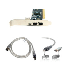 Placa Firewire Chipset Via 4 Portas Ieee 1394a 3+1p Pci