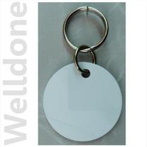Placa Circular Mascota Aluminio Blanco 2caras Sublimable 7pz