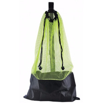 Bolsa Para Buceo Yellow Mesh Bag Draw String W/ Shoulder