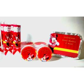 Kit Festa Personalizada Minnie, Minie, Mickey C/ 60 Unid.
