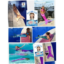 Traje De Sirena Para Nadar Swimtail Little Mermaids