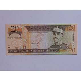 Rep. Dominicana 20 Pesos 2002 Fe